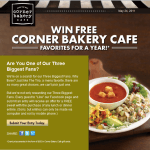 Corner Bakery Ties in Social Media Promo