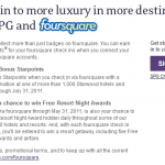 Starwood Integrates Foursquare Incetives