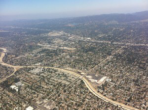 Birds Eye View of Los Angeles