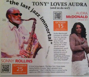 Sonny Rollins Audra McDonald