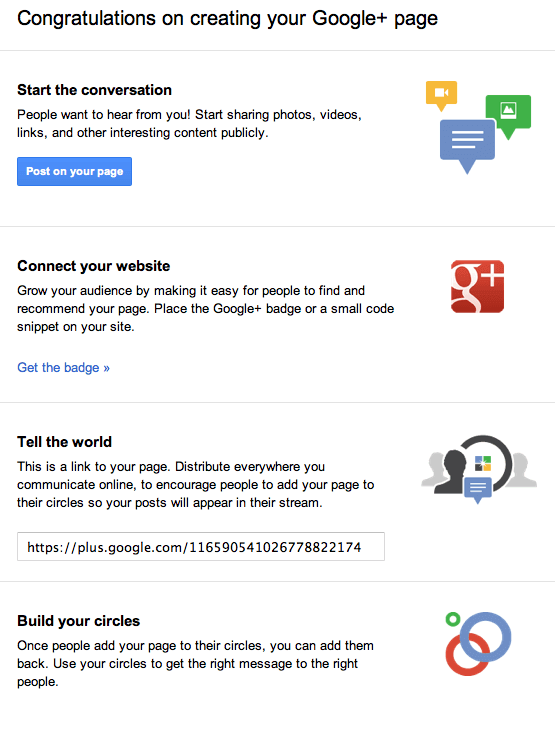 google plus business pages