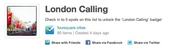 Foursquare city badge