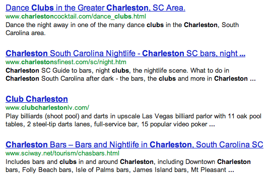 clubs in charleston