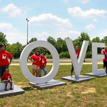 Love Artwork at Va Welcome Center