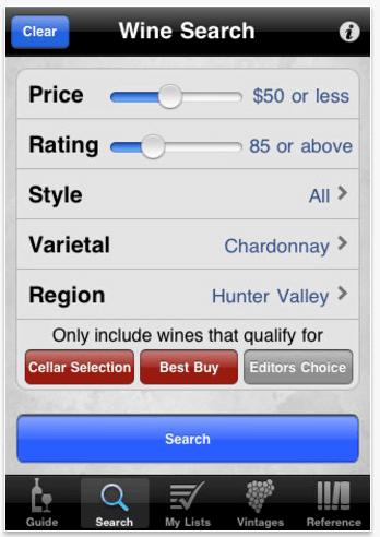 mobile wine app