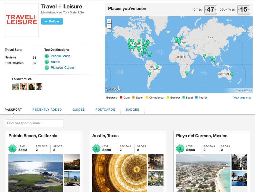 Travel + Leisure on Gogobot