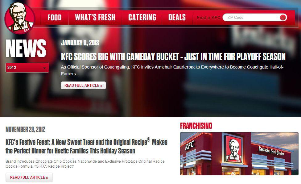 KFC blog