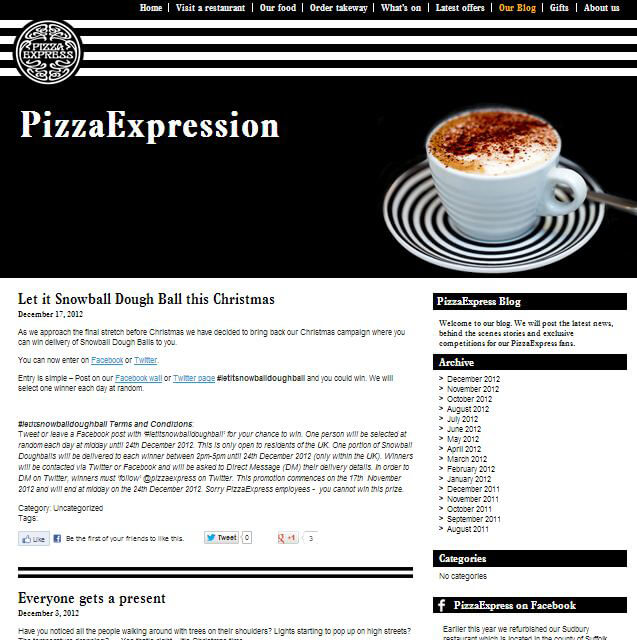 Restaurant Blog Example