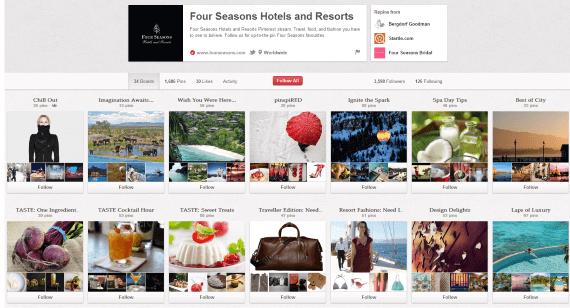 Four Seasons Varied Pinterest Board