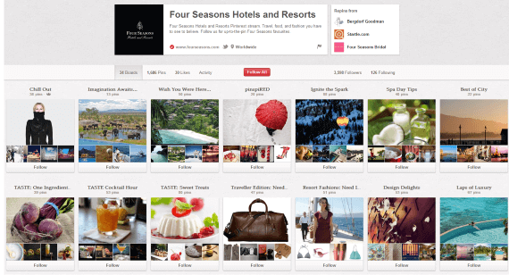 Four Seasons Varied Pinterest Board