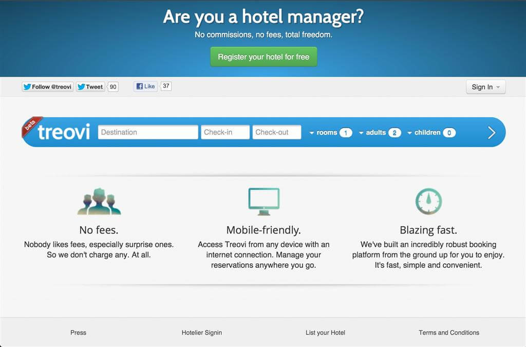 Treovi Hotel Search Engine