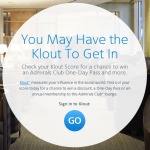 Use Your Klout for Access to the Admirals Club