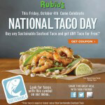 Celebrate National Taco Day at Rubio's