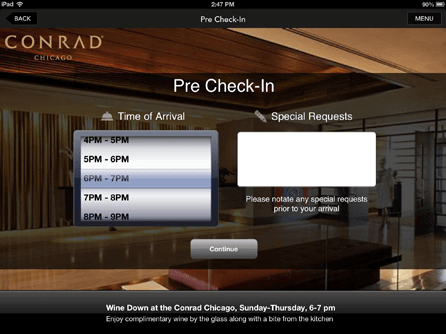 Conrad Hotels & Resorts Introduces Luxury Segment's First Comprehensive Pre Check-In Feature through its Conrad Concierge App