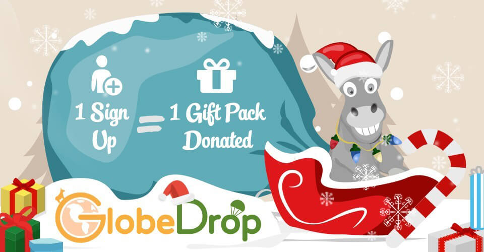 spread holiday cheer with globedrop
