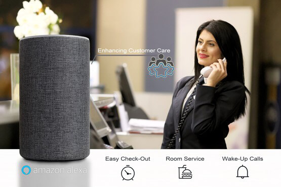 Alexa For Hospitality increases customer service